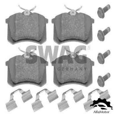 32 91 6052 SWAG колодки дисковые з.\ VW Golf III 2.0-2.9/1.9TDi 96-99/IV 1.6 00>