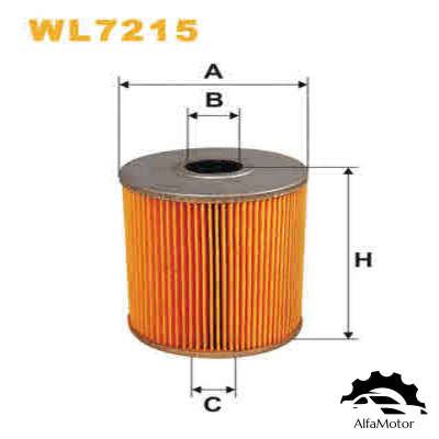 WL7215 WIX FILTERS фильтр масляный!\ VW Golf/Passat/Vento 2.8 VR6 91>, Ford Galaxy 2.8i 95-00