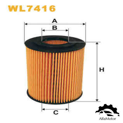 WL7416 WIX FILTERS Фильтр масляный CHRYSLER 300C 3.0D/MB W204/W211/W164/W251/SPRINTER 906 3.0D