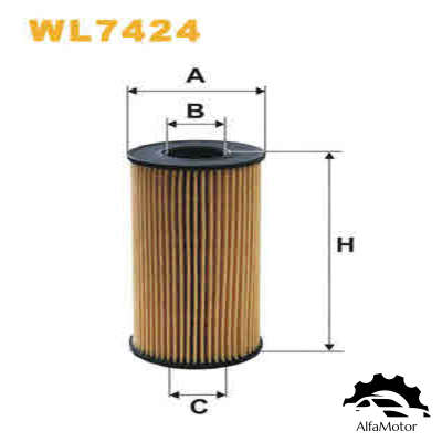 WL7424 WIX FILTERS Фильтр масляный RENAULT TRAFIC/OPEL MOVANO 2.0D/2.5D