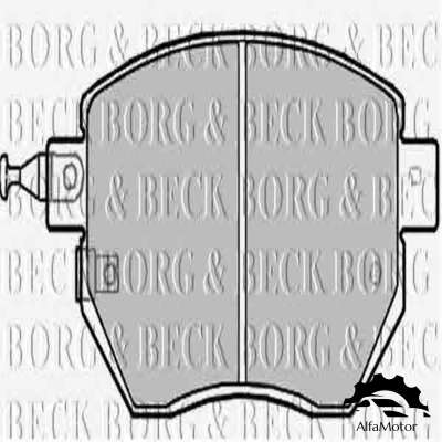 BBP2172 BORG & BECK колодки дисковые п. Nissan Murano 3.5 4WD 05>, Subaru Forester SG 2.0 02>