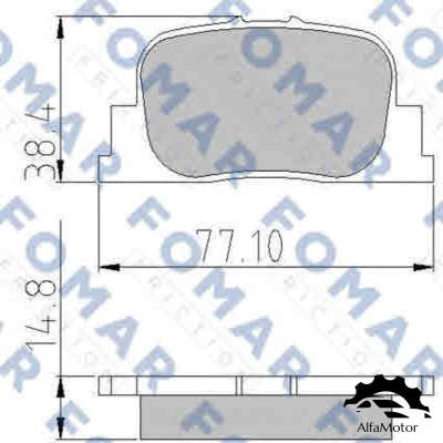 FO 909181 FOMAR Friction колодки дисковые з. Toyota Camry 2.2i/3.0i 00-01
