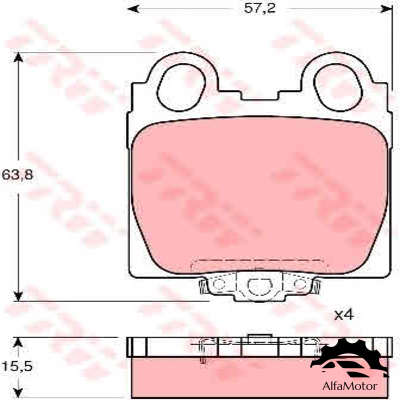 DP1010.10.0106 Dr!ve+ колодки дисковые з. Lexus GS300/400 97>/IS200/300 01>