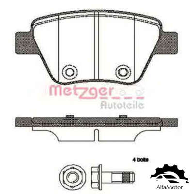 1420.00 METZGER колодки дисковые з.\ Audi A3, VW Golf, Skoda Yeti/Superb, Seat Leon 1.2-3.2 08>